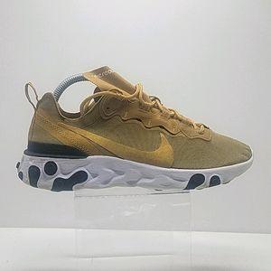 Men's Nike React Element 55 Metallic Gold